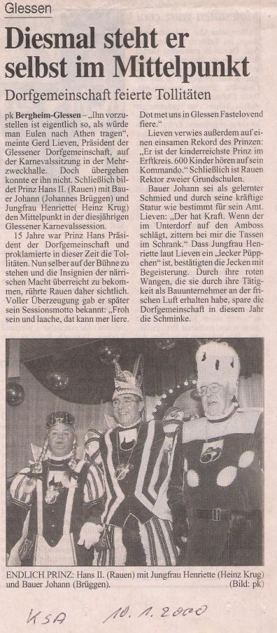 Kölner Dreigestirn 2000